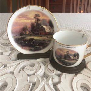Thomas Kinkade teacup and saucer